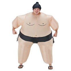Adult Inflatable Sumo Adult Costume Tan