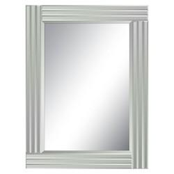 Rectangle Wrenn Decorative Wall Mirror Silver - Surya