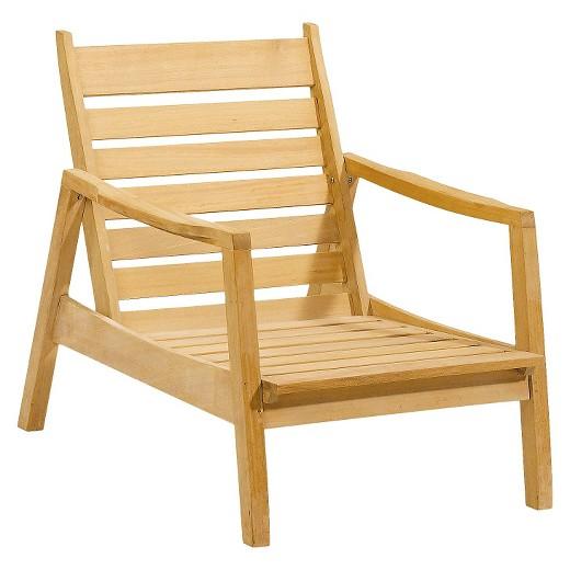 Sienna Wood Patio Club Chair Tar