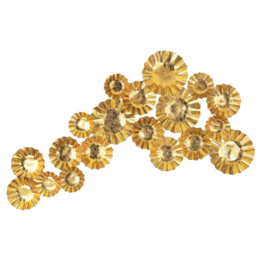 Lazy Susan 43 in. Gold Metal Wall Art