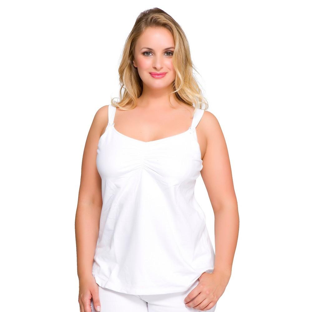 La Leche League Women's Nursing Tank White, Size: 40C