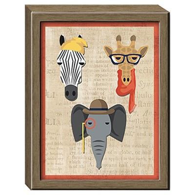Safari Animal Framed Wall Canvas 16x20