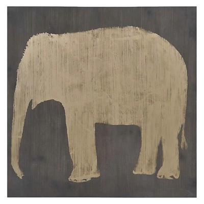 Elephant Wooden Wall Décor 32 x32