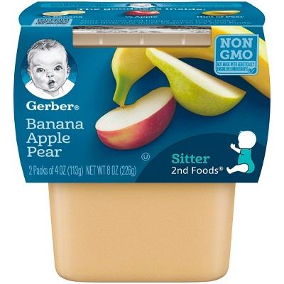 Gerber 2nd Foods Banana Apple Pear Baby Food - 4oz (2ct)