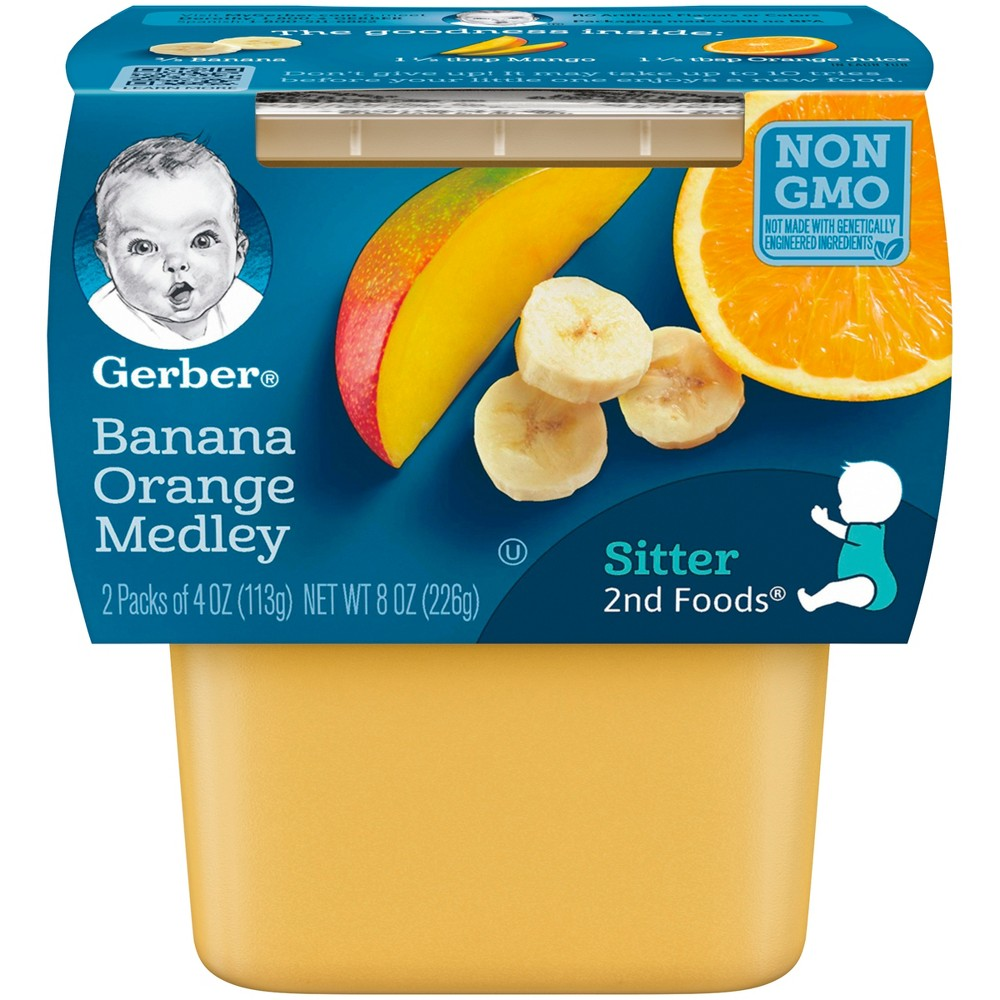 Gerber 2nd Foods Banana Orange Medley Baby Food - 4oz (2ct)