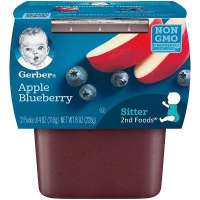 Gerber 2nd Foods Apple Blueberry Baby Food - 4oz (2ct)