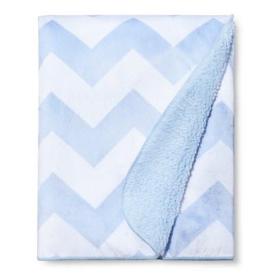 Valboa Baby Blanket - Light Blue Chevron - Circo™