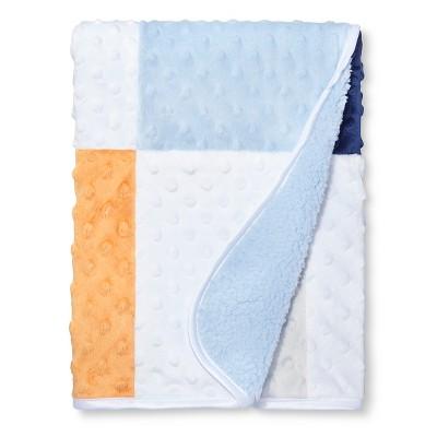 Valboa Patchwork Baby Blanket - Gray, Orange, Blue - Circo™