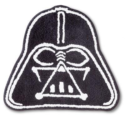 Perfect Star Wars Darth Vader Bath Rug   Black/White (21x30 )