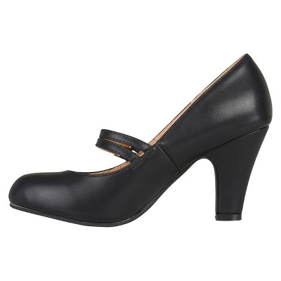 Women's Journee Collection Windy Double Strap Pumps - Black 8