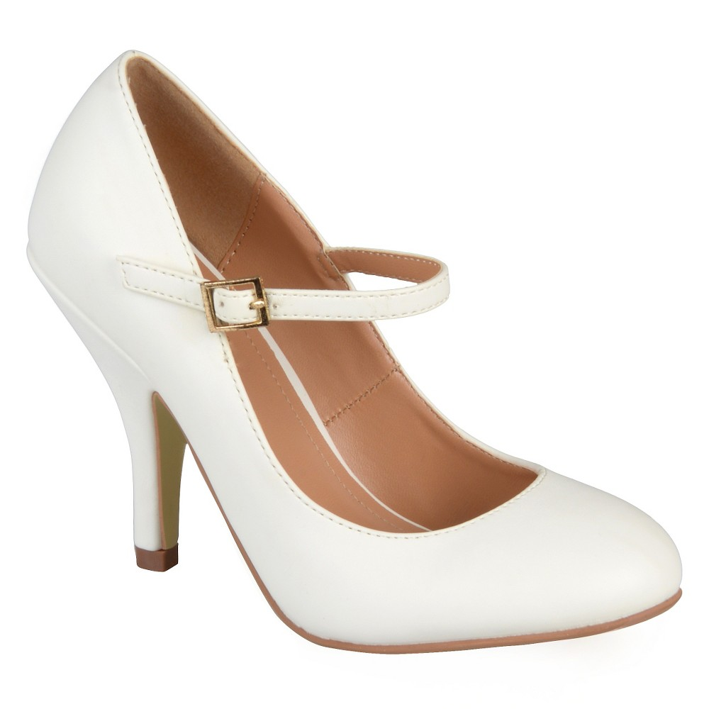 Womens Journee Collections Lezley Mary Jane Pumps - White 8.5