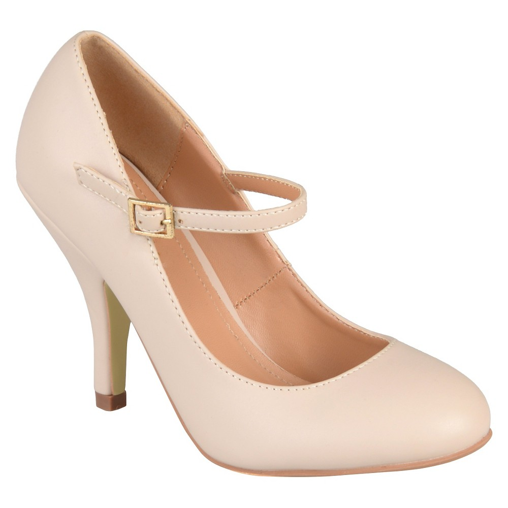 Womens Journee Collections Lezley Mary Jane Pumps - Nude 8