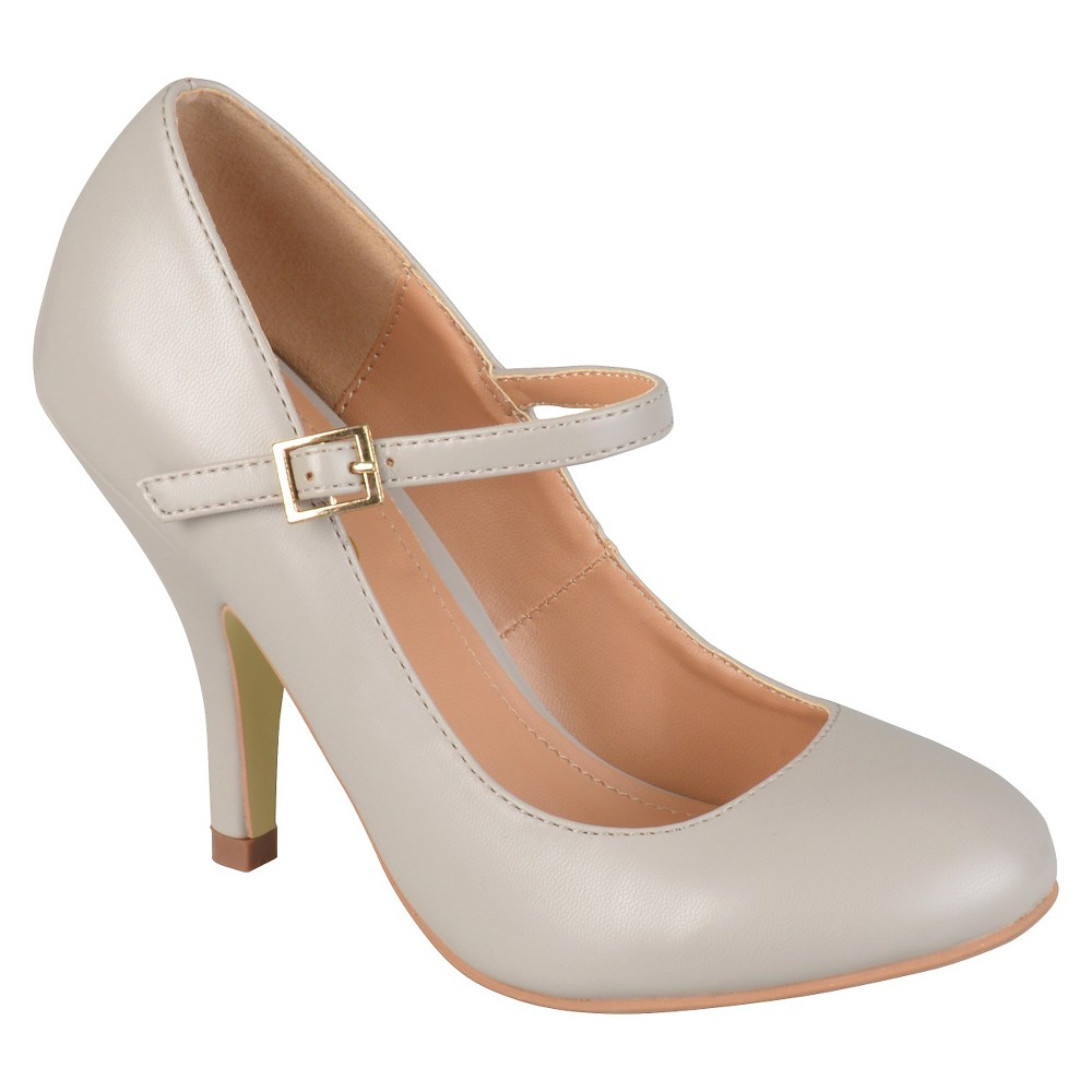 Womens Journee Collections Lezley Mary Jane Pumps - Gray 7