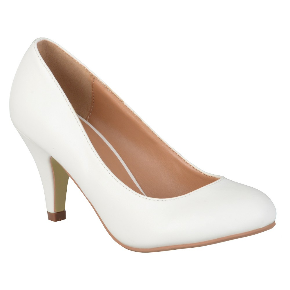 Womens Journee Collection Retire Pumps - White 7.5