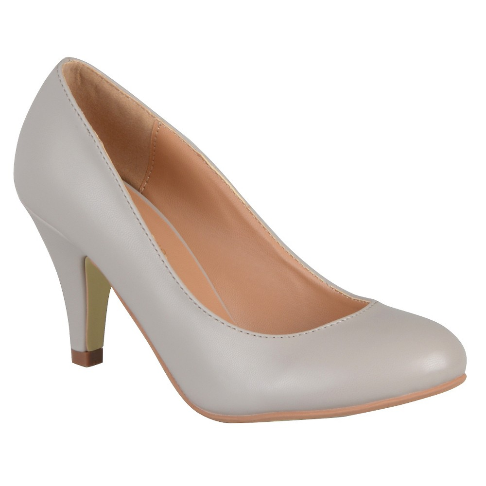 Womens Journee Collection Retire Pumps - Gray 8.5