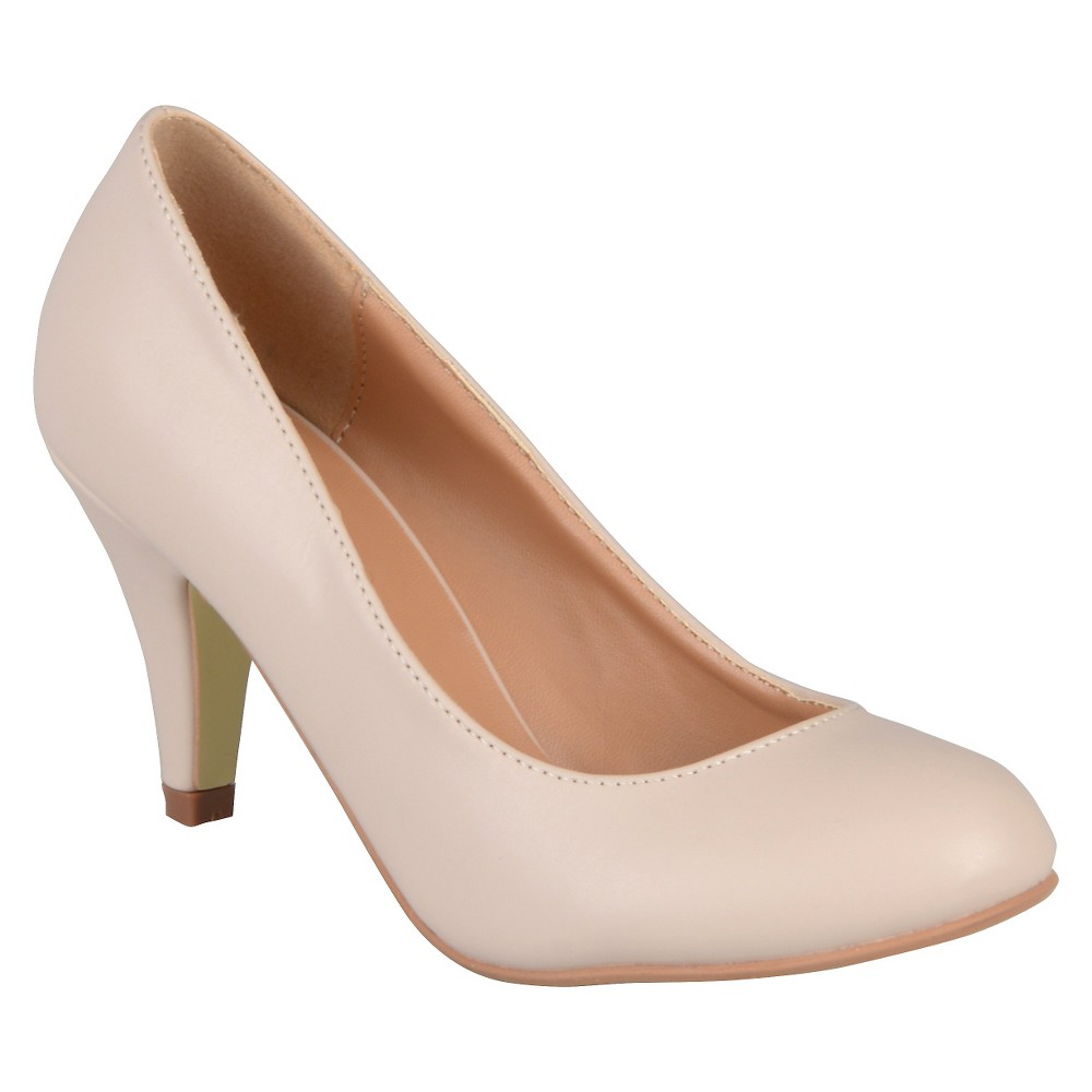 Womens Journee Collection Retire Pumps - Nude 7.5