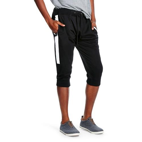 Men's Reflective Jogger Shorts Black - D-97 XL, Black Tie