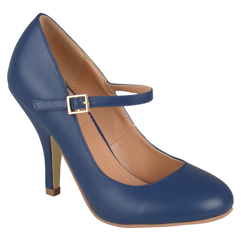 Womens Journee Collections Lezley Mary Jane Pumps - Navy (Blue) 8