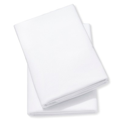 2pk Knit Fitted Crib Sheet - White - Circo™