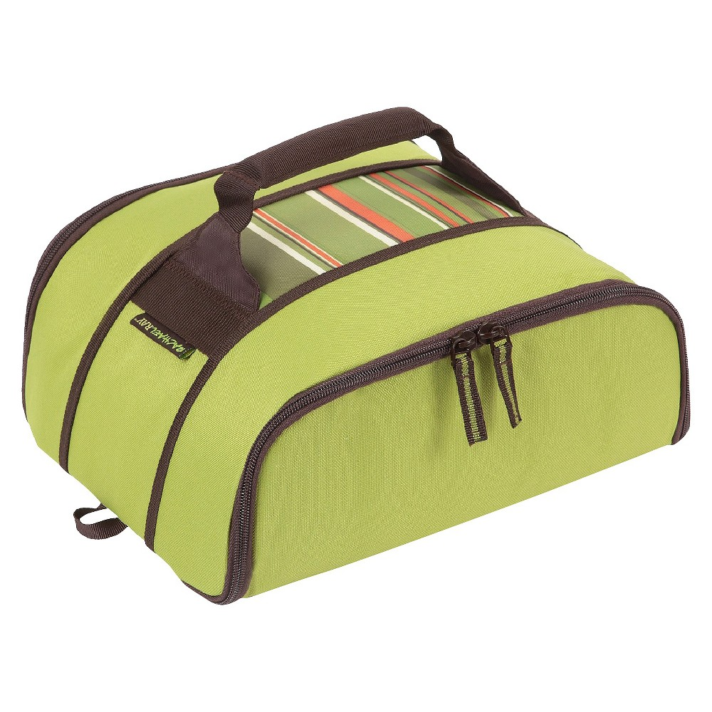 Rachael Ray Stowaway Potlucker - Green Stripe, Lime Tone
