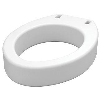 top fixing wooden toilet seat. Nova Elongated Raised Toilet Seat  White Elevated Bathroom Safety Target