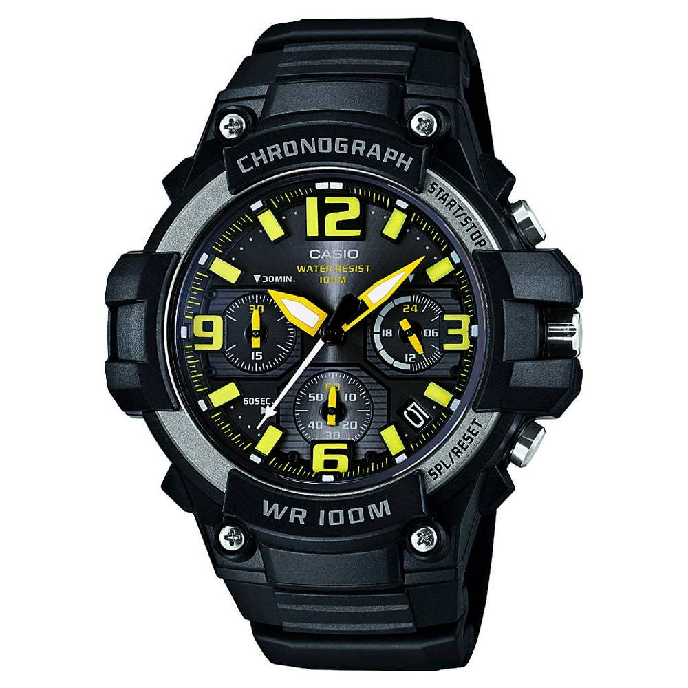 Mens Casio Rugged Chronograph Watch - Black (MCW100H-9AVCF)