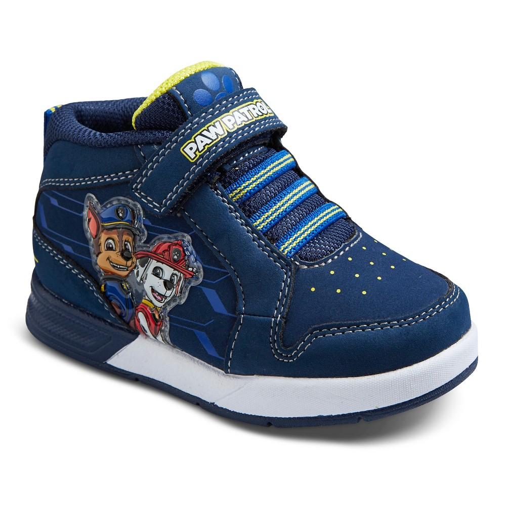 Toddler Boys Paw Patrol Mid Top Sneakers - Blue 7