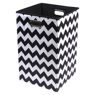 Modern Little Chevron Folding Hamper
