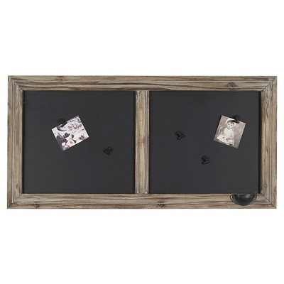 Wood Windowpane Chalkboard 31 x14