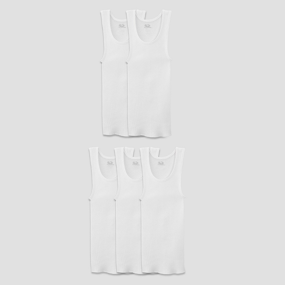 Fruit of the Loom Boys 5pk Tank Undershirt - White M