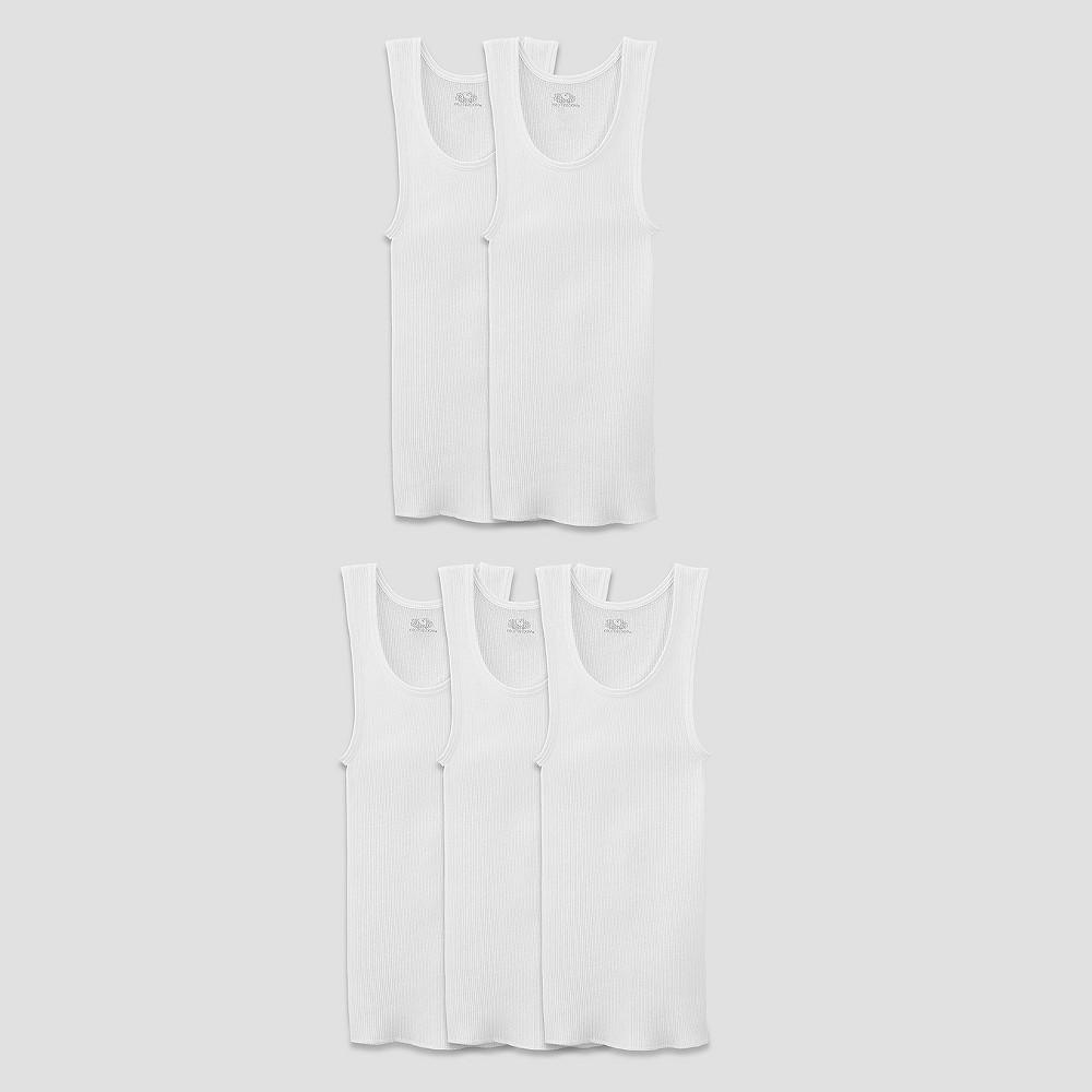 Fruit of the Loom Boys 5pk Tank Undershirt - White L