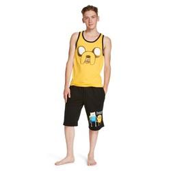 Men's Jake Spray Tank And Shorts Set Yellow