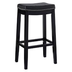 """Claridge Leather Saddle 32"""" Bar stool"""