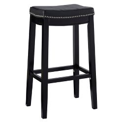 Lopez Backless Leather Barstool Set 2ct Christopher
