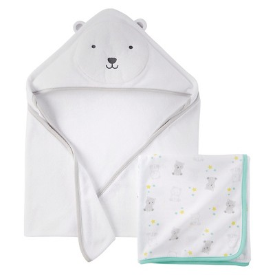 Just One You™ Made by Carter's® Baby Boys' Hooded Bath Towel - Winter White