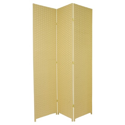 Tall Woven Fiber Room Divider 3 Panels   Oriental Furniture