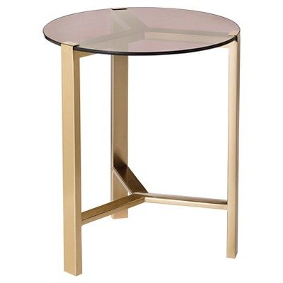 Gold Accent Table with Glass Top - Nate Berkus™