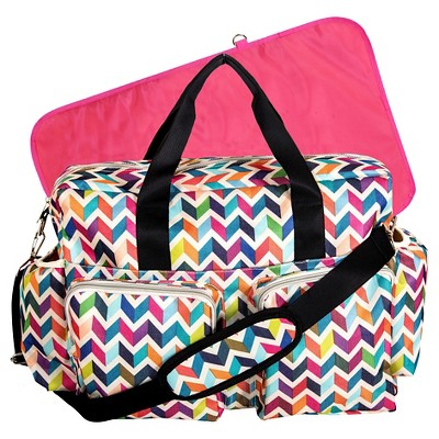 French Bull Ziggy Deluxe Duffle Diaper Bag – Chevron