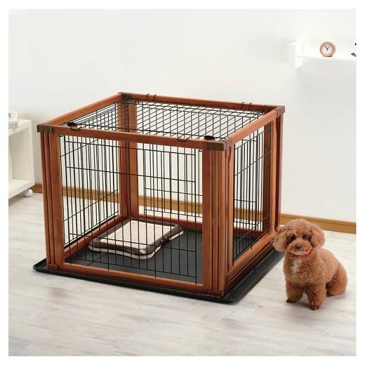 Richell Convertible Indoor Outdoor Pet Playpen Floor Tray