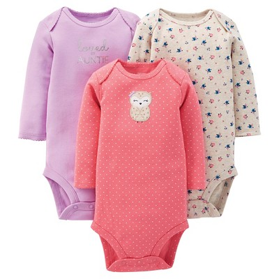 Baby Girls' 3pk Bodysuit - Just One You™ Made by Carter's® Pink 6M