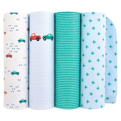 baby 4pk cars flannel blanket just one you made by blue - Flannel Blanket