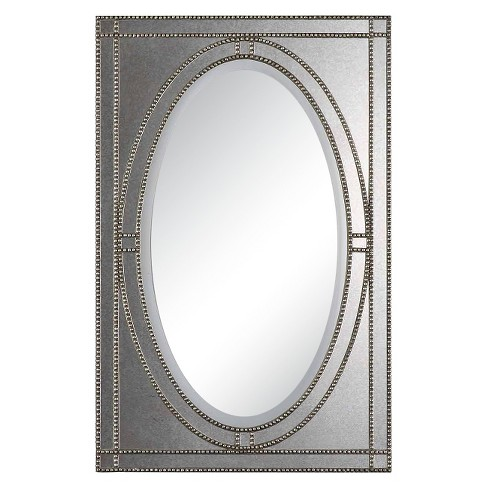 Rectangle Earnestine Decorative Wall Mirror Antique Silver - Uttermost - image 1 of 1
