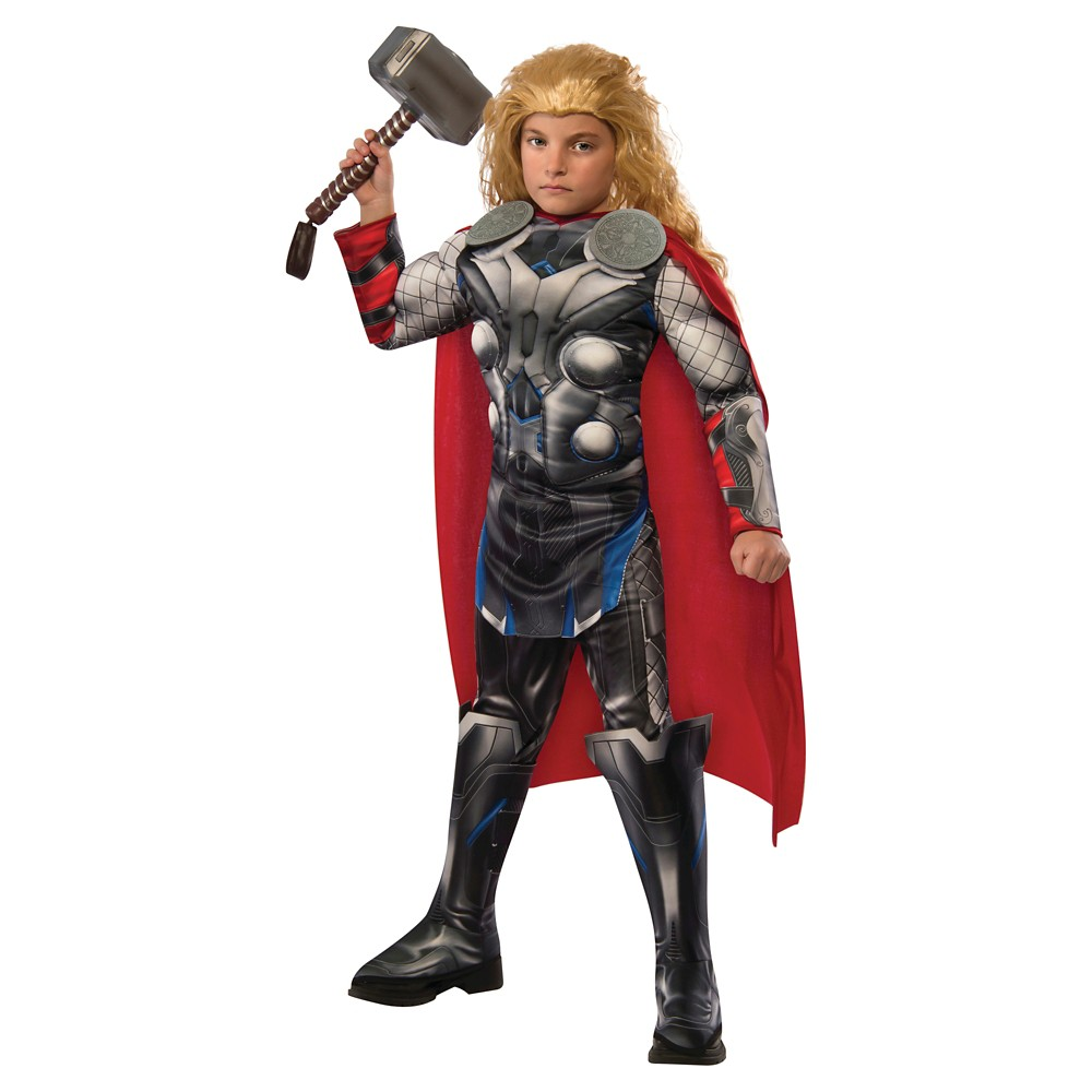 The Avengers Age of Ultron Boys Thor Costume - S(4-6), Black