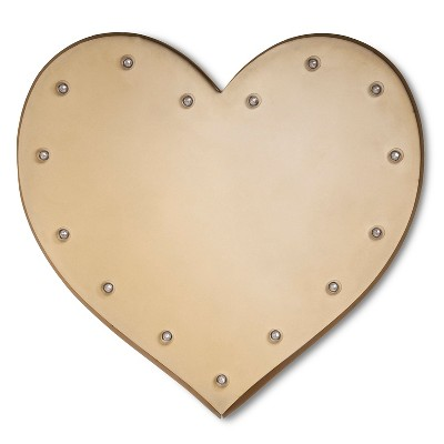 Metal Marquee Large - Solid Heart - Brass - Threshold™