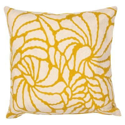 Target Throw Pillows Yellow : Yellow/Ivory En Casa by Luli Sanchez Handmade Cotton Throw Pillow (18