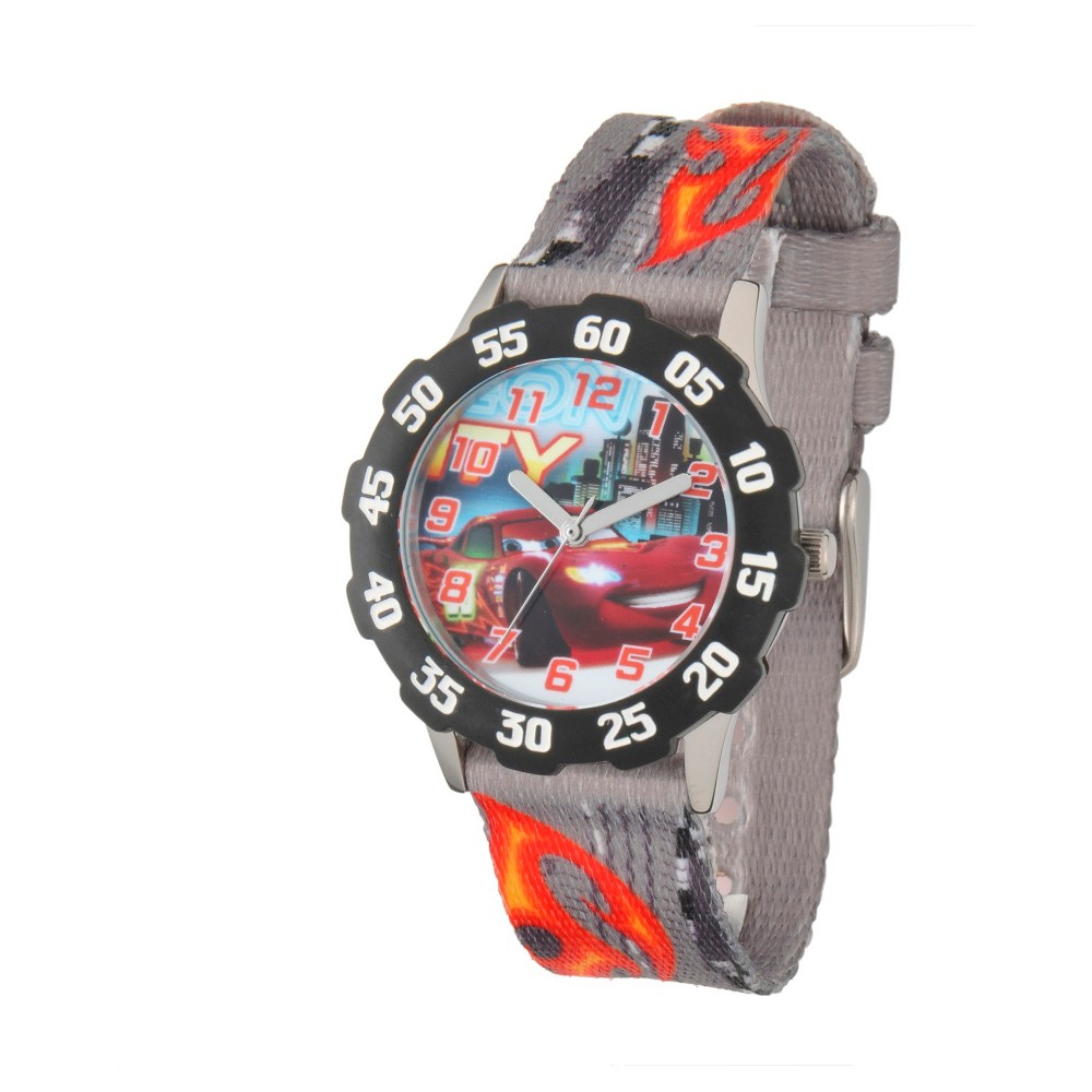Boys Disney Cars Stainless Steel with Bezel Watch - Gray