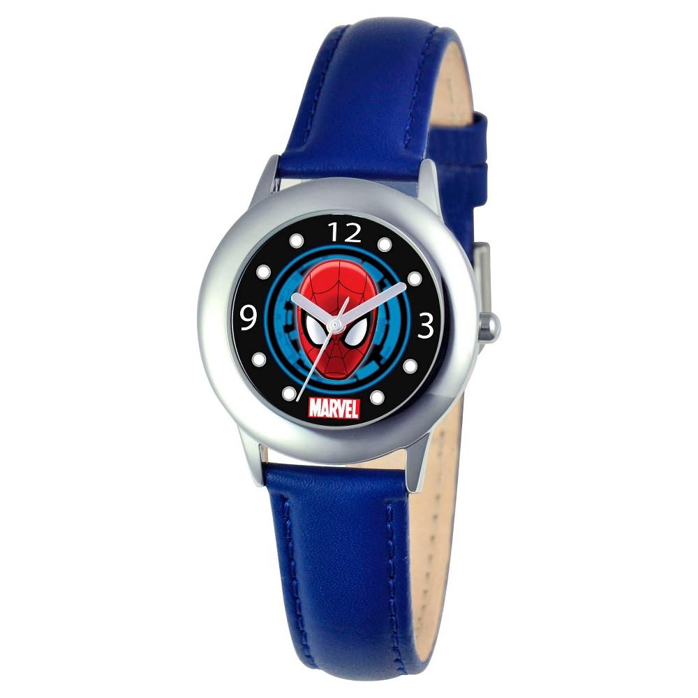 Boys' Marvel Spider-Man Stainless Steel Watch - Blue