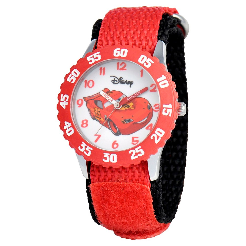 Boys Disney Cars Stainless Steel with Bezel Watch - Red