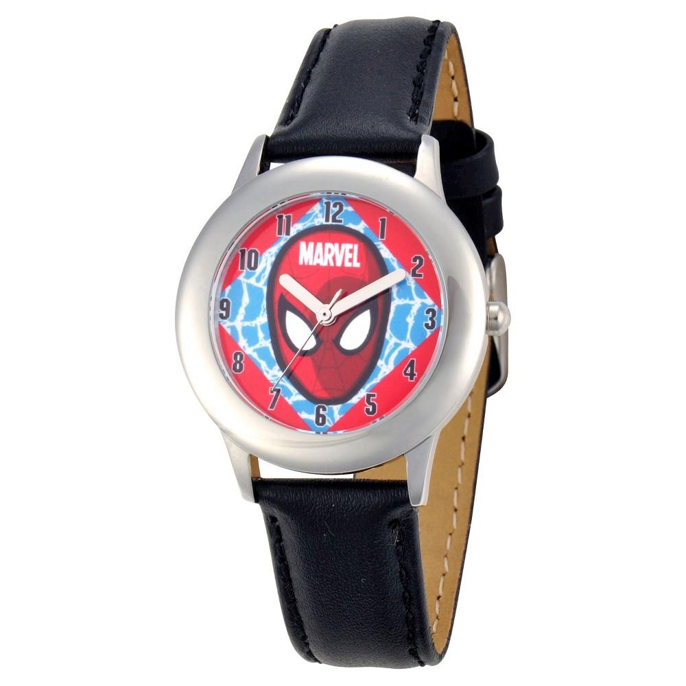 Boys' Marvel Spider-Man Stainless Steel Watch - Black