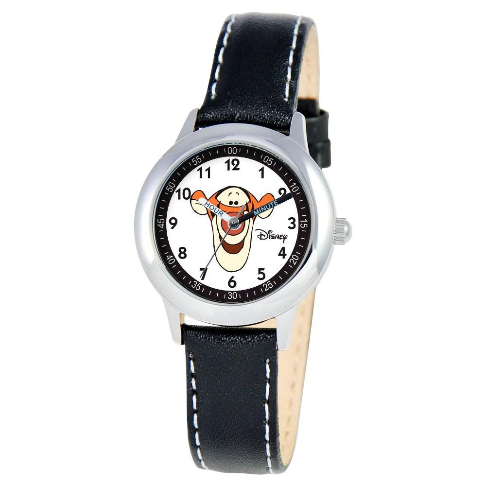Boys Disney Tigger Stainless Steel Time Teacher Watch - Black